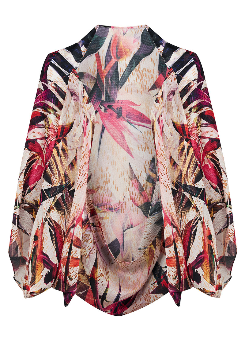 NOOKI EXCLUSIVE Birds Of Paradise Silk Cape - Bird Print main image