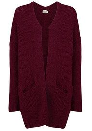 American Vintage Boolder Knitted Long Cardigan - Plum
