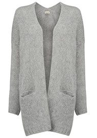 Boolder Knitted Long Cardigan - Rock Melange