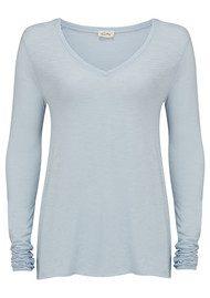 American Vintage Jacksonville Long Sleeve T-Shirt - Aqua