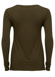 American Vintage Jacksonville Long Sleeve T-Shirt - Military