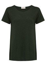 American Vintage Jacksonville Round Neck T-Shirt - Pesto