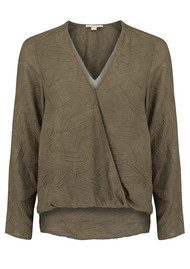 COOPER AND ELLA Alyssa Wrap Blouse - Forest Green