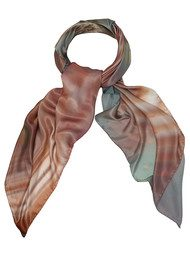 Weston Scarves Oyster Agate Square Silk Scarf - Oyster