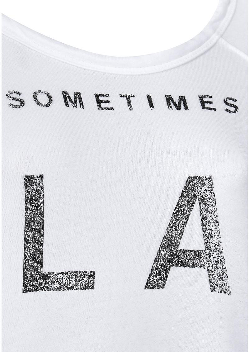 SUNDRY 'LA Sometimes NY' Cropped Pullover - Vintage White main image