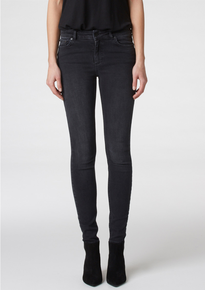 Twist and Tango Julie High Waisted Jeans - Washed Grey main image