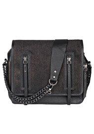 Becksondergaard Sakai Perforated Leather Cross Body Bag - Black