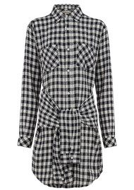Current/Elliott The Twist Shirt Dress - Sherlock Plaid
