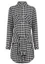 Current/Elliott The Twist Shirt Dress - Sherlock Plaid
