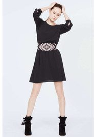Ba&sh Elton Embroidered Belt Dress - Noir