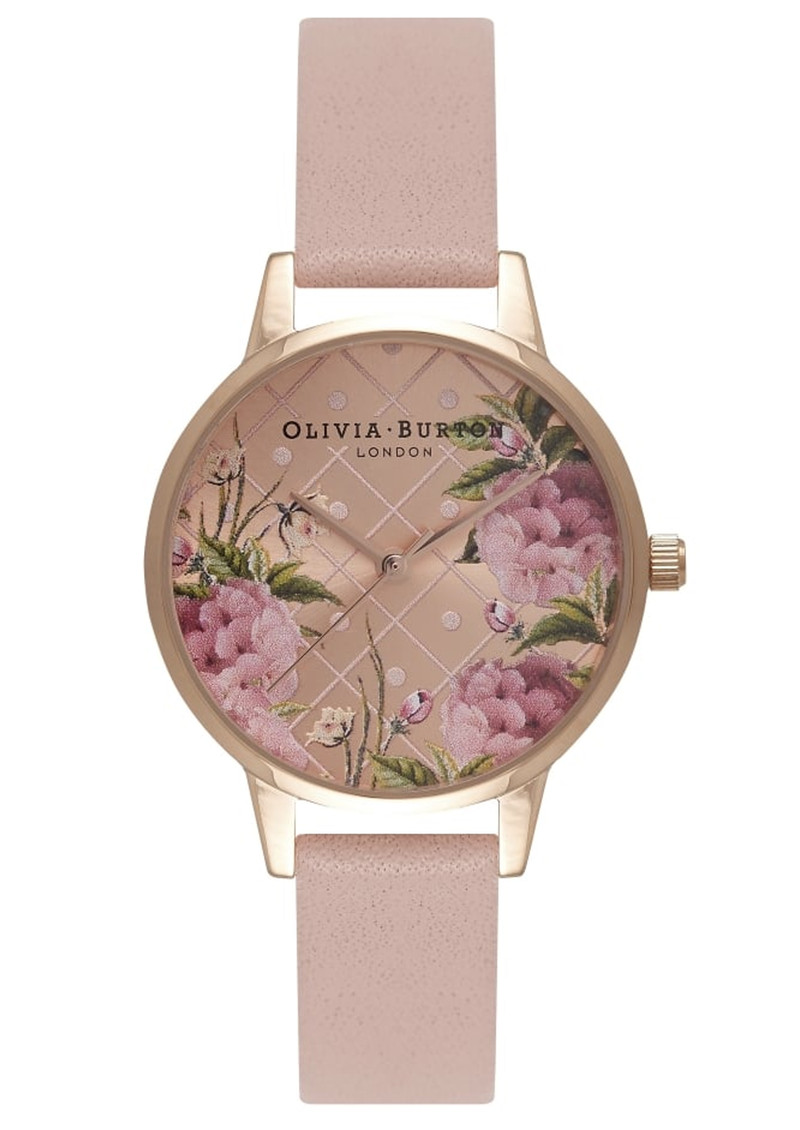Olivia Burton Dot Design Floral Watch - Dusty Pink & Rose Gold main image