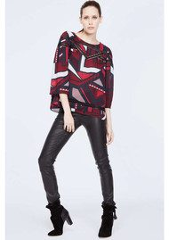 Ba&sh Joyce Printed Top - Marine