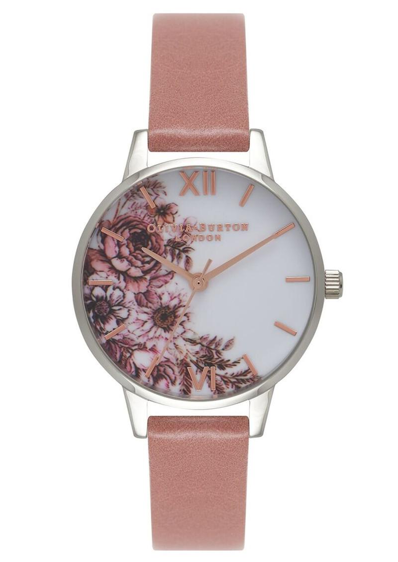Olivia Burton Flower Show Midi Dial Watch - Rose, Silver & Rose Gold main image