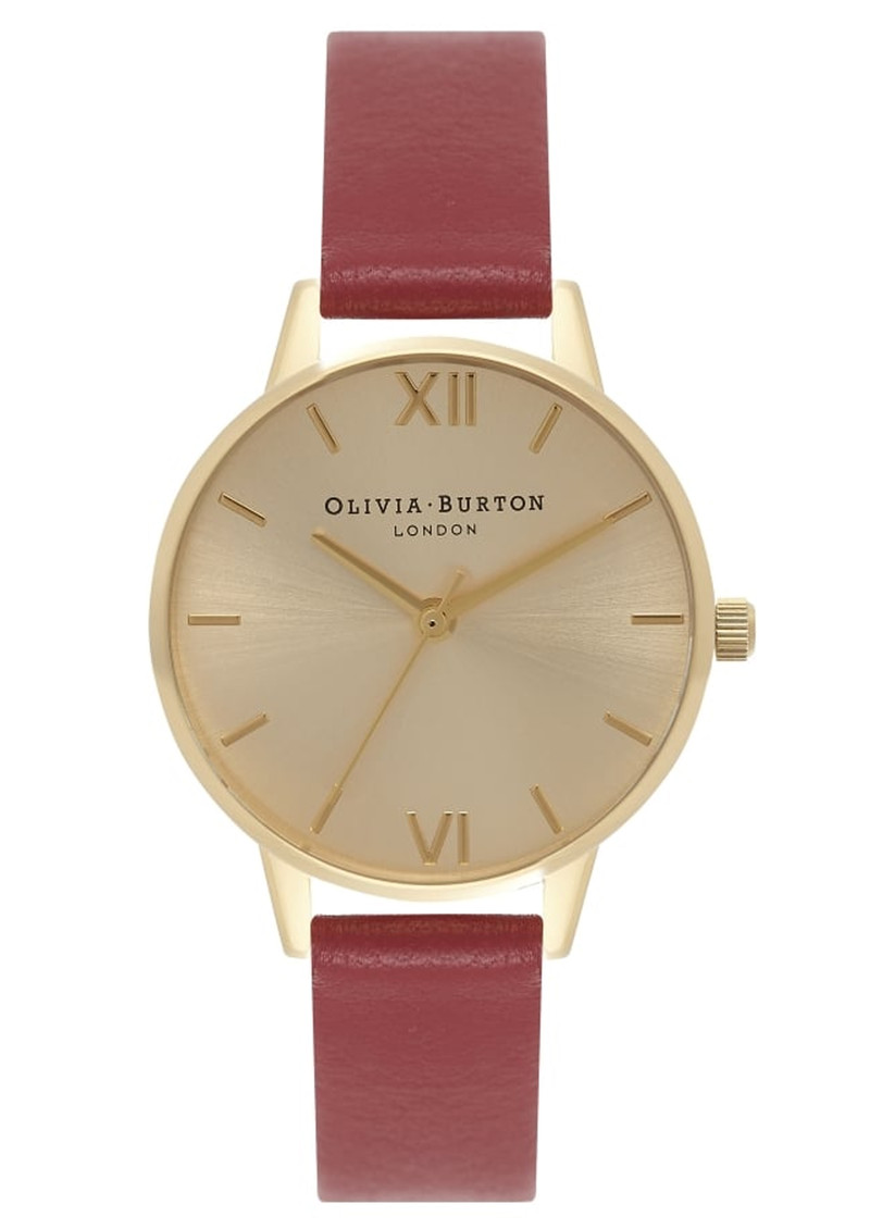 Olivia Burton Midi Dial Watch - Red & Gold main image