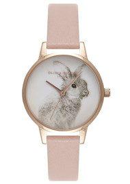 Olivia Burton Woodland Bunny Watch - Dusty Pink & Rose Gold