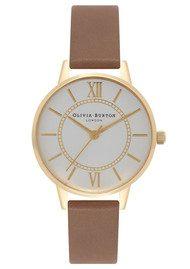 Olivia Burton Wonderland Watch - Taupe, Gold & Silver