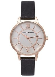 Olivia Burton Wonderland Watch - Black, Rose Gold & Silver
