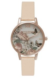 Olivia Burton Enchanted Garden Watch - Nude Peach & Rose Gold