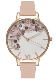 Olivia Burton Enchanted Garden Watch - Dusty Pink & Rose Gold
