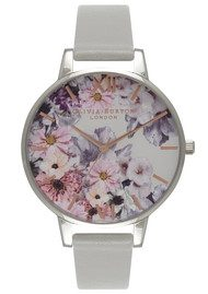Olivia Burton Enchanted Garden Watch - Grey & Silver