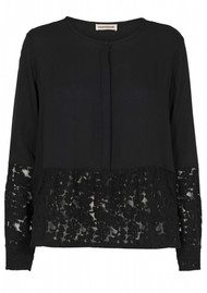 CUSTOMMADE Chalina Lace Top - Anthracite Black
