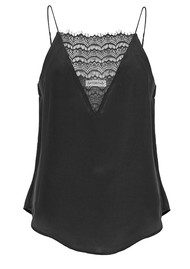 CUSTOMMADE Elvira Lace Camisole - Anthracite Black