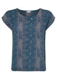 Mercy Delta Blair Python Top - Forest