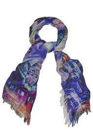 Lily and Lionel Carrie Silk Blend Scarf - Multi