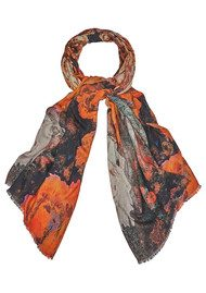 Lily and Lionel Skyler Cashmere Mix Scarf - Tangerine