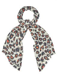 Lily and Lionel Isla Cashmere Mix Scarf - Tangerine