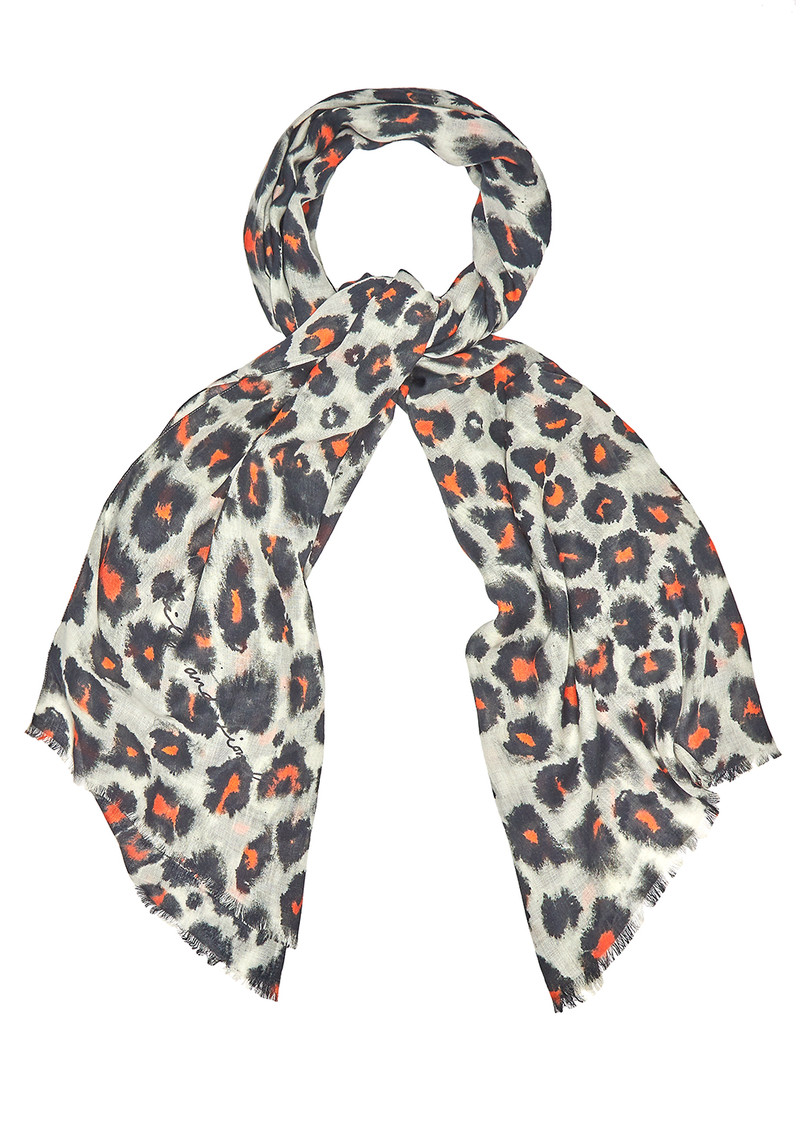 Lily and Lionel Isla Cashmere Mix Scarf - Tangerine main image