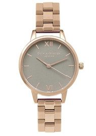 Olivia Burton Midi Dial Grey Dial Bracelet Watch - Rose Gold