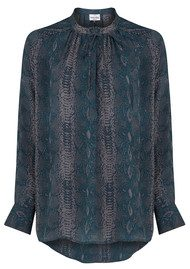 Mercy Delta Stowe Python Blouse - Forest