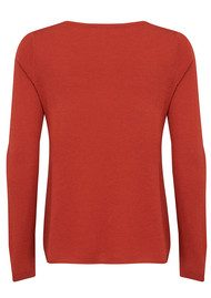 American Vintage Blossom Long Sleeve Sweater - Brick