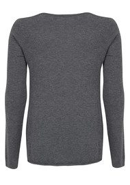 American Vintage Blossom Long Sleeve Sweater - Heather Grey