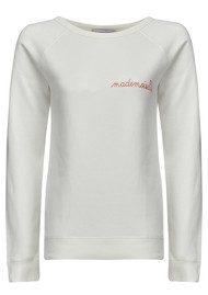 MAISON LABICHE Mademoiselle Cotton Sweatshirt - Off White