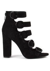 KENDALL & KYLIE Evie Buckle Heel Boots - Black