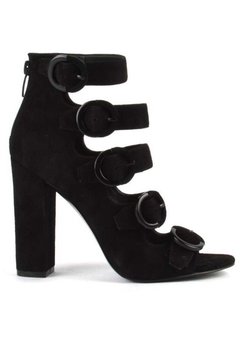81e82ee7522 Evie Buckle Heel Boots - Black