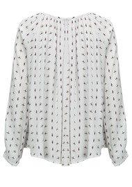 SUNCOO Levi Printed Shirt - White
