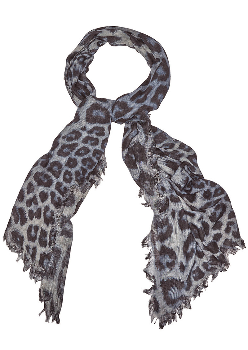 Bianca Silk Mix Scarf - Monochrome main image