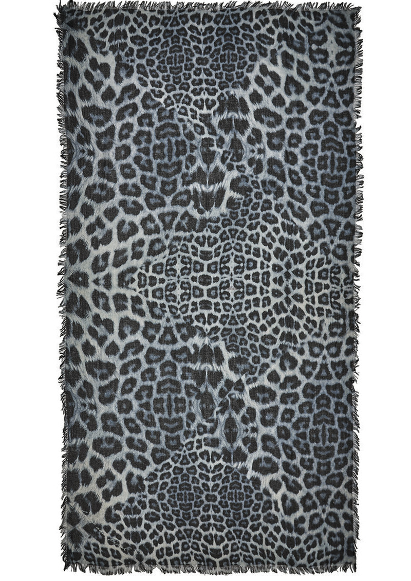 Lily and Lionel Bianca Silk Mix Scarf - Monochrome main image