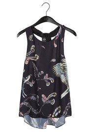 Twist and Tango Story Top - Feather Print