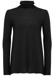 American Vintage Blossom Turtle Neck Knitted Top - Black