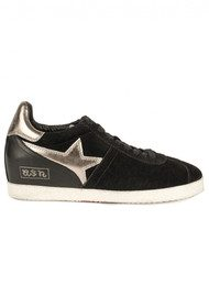 Ash Guepard Bis Low Wedge Trainer - Black
