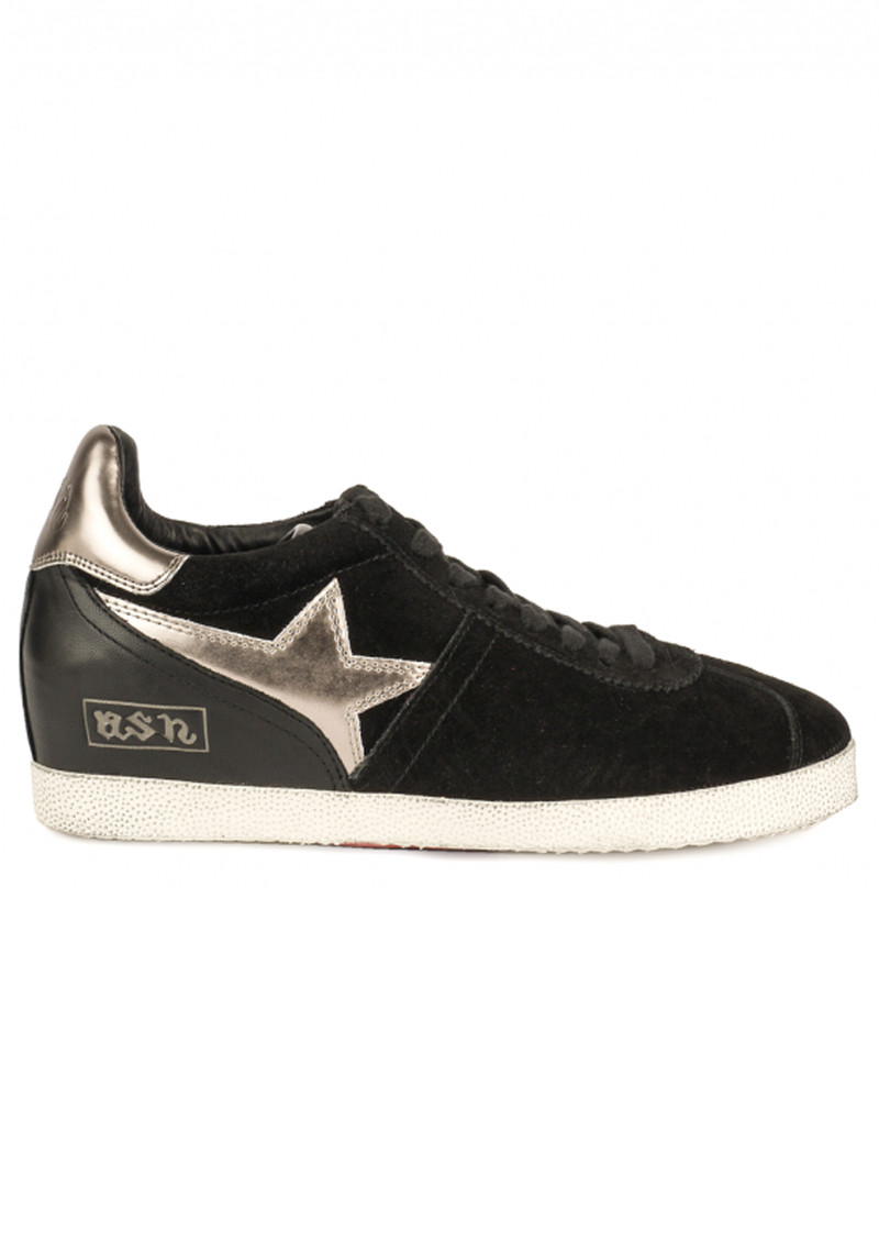 Ash Guepard Bis Low Wedge Trainer - Black main image
