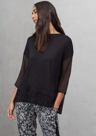 Great Plains Mixed Blend Long Sleeve Top - Black
