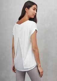 Great Plains Mix Blend Cross Back Tee - Milk White