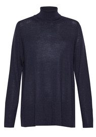 Great Plains Amelia Polo Neck Sweater - Navy