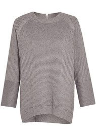 Great Plains Parisian Ottoman Stitch Sweater - Grey Melange