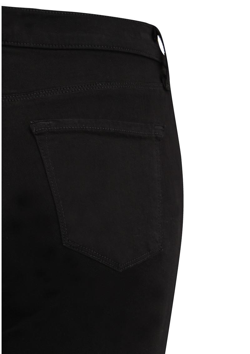 J Brand Selena Mid Rise Boot Cut Jeans - Black Bastille main image